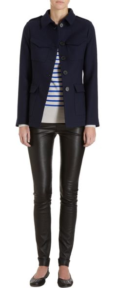 Perfect transitional outfit. Also love combining black and navy!