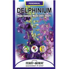 Ferry-Morse 125 mg Magic Fountains Mixed Colors Dwarf Delphinium Seed