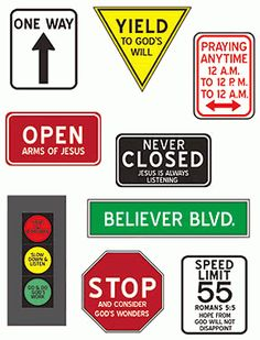Traffic Signs Magnet Set by SmileyMe! Sunday School Rooms, Sunday School Classroom, Sunday School Lessons, Sunday School Crafts, Classroom Ideas, Christian Bulletin Boards, Church Bulletin Boards, Vbs Crafts, Bible Crafts