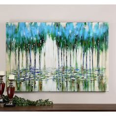 Have to have it. Uttermost Trees in The Mist Abstract Art - 60W x 40H in. - $327.8 @hayneedle