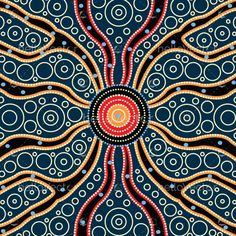 Connection concept, Aboriginal art vector painting #aboriginal #indigenous #art #painting