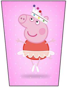Peppa Pig Wallpaper, Peppa Pig Imagenes, Peppa Pig Printables, Pig Party, Tent Cards, Printable Labels, Some Ideas, Goodie Bags, Alice