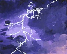 Purple Stormy Sky with Lighting - Free Arts Academy- Art From Our Channel Art Paintings For Sale, Flower Landscape, Sky Painting, Purple Sky, Art Academy, Pet Portraits, Original Artwork, Abstract Art, Channel