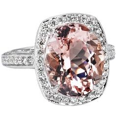 Beaudry International oval morganite ring