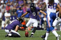 Kicker Justin Tucker #9 of the Baltimore Ravens kicks a field goal in the first half of a game at M&T Bank Stadium on Sept. 11, 2016 in Baltimore.