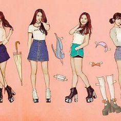 "160328 Paper dolls concept plus roller skates ❤ Credit wm_ohmygirl -  OH MY GIRL 3rd Mini Album ""LIAR LIAR""  #OMG #OHMYGIRL #WMENT #b1a4sisters"