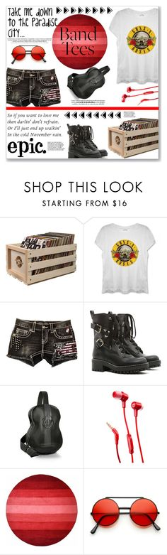 """Epic"" by keri-cruz ❤ liked on Polyvore featuring Crosley, Miss Me, RED Valentino, Pratesi, JBL and bandtees"