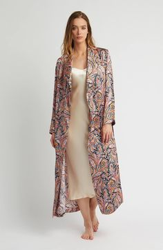 Silk Gown (3b14) - Paisley. Sexy LingerieΠουκάμισα 2fac7383956