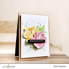 Altenew Cards, Handmade Card Making, Card Maker, Flower Cards, Clear Stamps, Greeting Cards Handmade, Homemade Cards, Peonies, Cardmaking