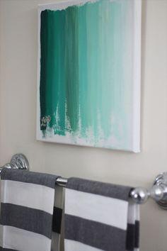 DIY ombre canvas wall art