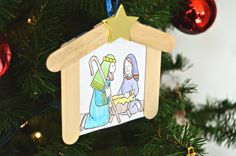 Nativity Ornament for Kids   Homan at Home