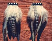 Cherokee Studded Feather Earrings