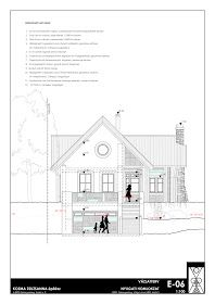 K O Z M A Z S U Z S A N N A építész: Zalaegerszeg, Teskánd, Családi ház tanulmány terve Floor Plans, Diagram, Architecture, Modern, Floor Plan Drawing