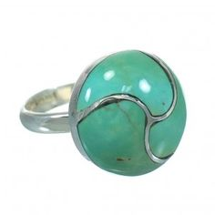 Turquoise Inlay Authentic Sterling Silver Ring