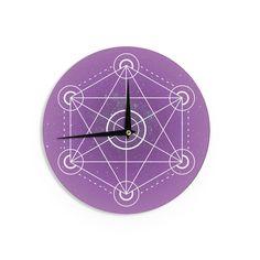 """Matt Eklund """"Dalaran"""" Geometric Purple Wall Clock"""