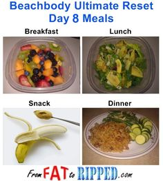 Beachbody Ultimate Reset Day 8 Meals