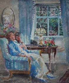 Margaret Fisher Prout Post Impressionist Portrait Interior  Richard Taylor Fine Art Richard Taylor, Teaching Drawing, Tate Gallery, Summer Evening, Artist Names, Matisse, Impressionist, Fisher, Oil On Canvas