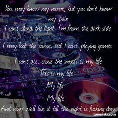 """Zatox - My Life !! -- #LyricArt for """"My Life - Original Mix"""" by Zatox"""