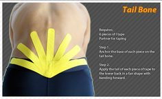 Kinesiology taping instructions for the tail bone #ktape #ares #tailbone  Ares tape can be found at Theratape.com