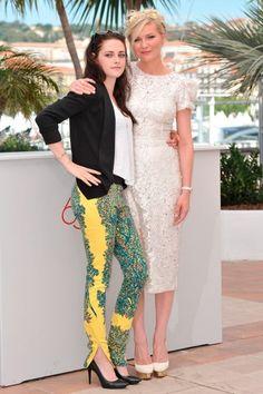Kristen Stewart Kristen Dunst.love the lace dress