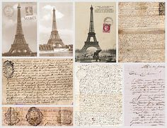 Eiffel Tower images & french ephemera