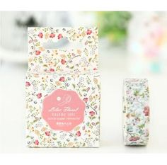 Little Flowers Washi Tape 15mm x 7m by chickydoddle on Etsy