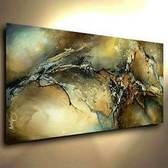 Abstract Art Modern CONTEMPORARY Giclee Canvas Print of a Michael Lang Painting
