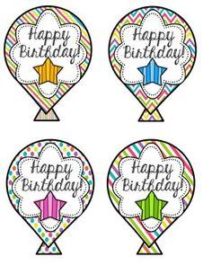 Birthday-Balloons-Craft-FREEBIE-798958 Teaching Resources - TeachersPayTeachers.com
