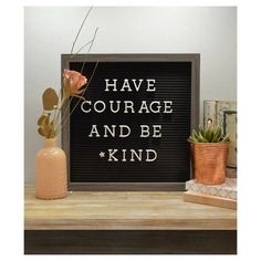"Get your point across in style with this trendy letterboard by New View. Display your favorite quote, provide some motivation, or leave little messages for friends and family members - the possibilities are endless! The 1"" plastic letters slide easily into the grooves on the board, allowing you to change your message as often as you like. The letterboard comes with 188 1"" plastic letters and punctuation symbols. #HowtoLeaveaGreatOfficeMessage"
