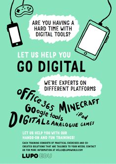 Go digital! Let us help you with our hands-on and fun trainings! Al Games, Primary School, We The People, Minecraft, No Response, Ipad, Positivity, Teacher, Student