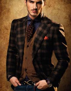 Layering earth-tones and plaid