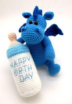 Grow baby Little Dragon pdf crochet toy pattern by mashutkalu
