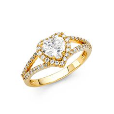 1.90 Ct Heart Shape Halo Engagement Wedding by UniversalJewels