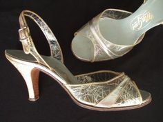 1950s clear vinyl silver shoes.