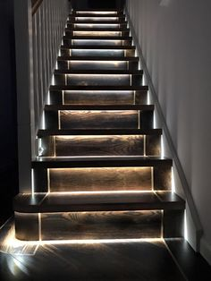 House Staircase, Staircase Design, Glitter Stairs, Stairway Lighting, Painted Staircases, Goth Home Decor, Hallway Inspiration, Stair Handrail, Interior Stairs