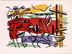 Composition in two birds (Landscape with birds) by @artistleger #leger #arthistory