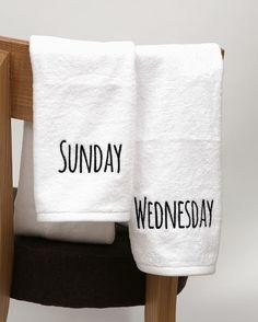 [BABOSARANG] 요일이 새겨져있어 맞춰쓰는 재미가 있어요 /요일/타올/타월/세면도구/수건/Day of the week/Towel/Toiletries