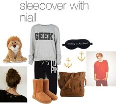 """""""sleepover with niall"""" by adriana-diaz ❤ liked on Polyvore"""