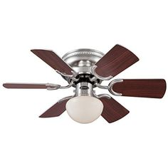 Westinghouse 7800500 Petite Single-Light Reversible Six-Blade Indoor Ceiling Fan with Opal Mushroom Glass, 30-Inch, Brushed Nickel Finish Westinghouse http://www.amazon.com/dp/B00K5TO32C/ref=cm_sw_r_pi_dp_E6JFvb1RRQVGF