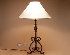 Wrought iron lamp, western, southwest