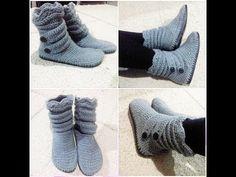 Botas em  Croche / Crochet Boots - YouTube