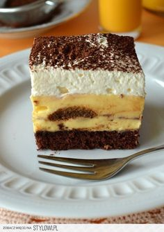 Ciasto kapitańskie Wykonanie (blaszka o wymiarach 31x2… na Stylowi.pl Polish Desserts, Polish Recipes, Chocolate Ganache Tart, Sweets Cake, Recipes From Heaven, Let Them Eat Cake, Yummy Cakes, No Bake Cake, Food Inspiration