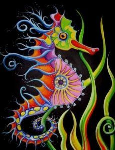 23 Easy Paper Quilling Ideas For Kids – Quilling Techniques Seahorse Drawing, Seahorse Painting, Seahorse Art, Seahorses, Psychedelic Art, Sea Life Art, Ocean Art, Fish Art, Beach Art