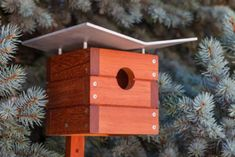 7 Unique Bird Houses You Wish You Could Move Into - bird house - Vogelhaus Bird House Plans, Bird House Kits, Modern Birdhouses, Bird House Feeder, Birdhouse Designs, Birdhouse Ideas, Bird Houses Diy, Bluebird Houses, Bird Aviary