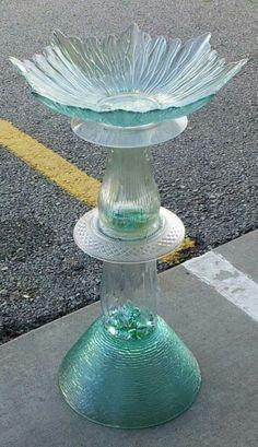 Repurposed birdbath