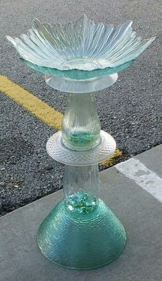 Repurposed birdbath