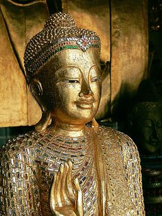 Buddhist Art Thailand Thai Buddha Head Sculpture with colored stones | Flickr - Photo Sharing!