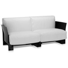 Cheap Sectional Sofas Pop Two Seater Eco Leather Sofa by Kartell Opad