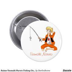 Anime Uzumaki Naruto Fishing On A Hot Summer Day Button