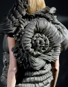 Sculptural Fashion - complex 3D patterns and amazing textures resembling organic forms; fashion as art